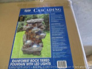 Alpine Fountain with LED Lights (Retail $320)