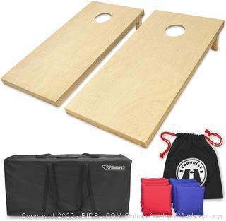 Go Sports Finished Wood Regulation Size Cornhole Bean Bag Toss Game Set (Online $119)
