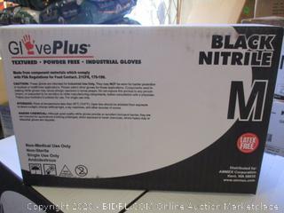 GlovePlus Black Nitrile Gloves (Medium, 1000 Count)