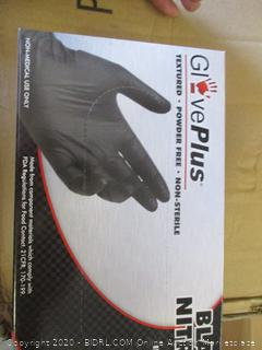 GlovePlus Black NItrile Gloves (Medium, 100 Count)