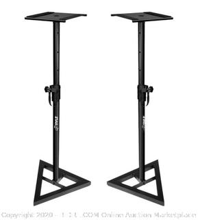 Pyle heavy duty telescoping height adjustment monitor speaker stand pair(factory sealed)