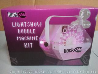 rock jam light show bubble machine kit BB - AC - 2