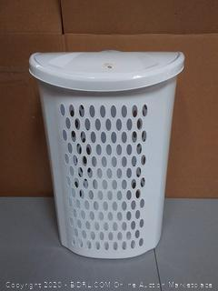 Sterilite Ultra wheeled hamper with lid