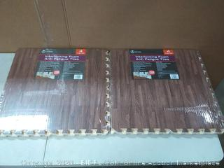 interlocking foam anti-fatigue tiles two count