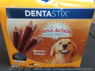 Pedigree Dentastix Large Dental Dog Treats, Bacon Flavor, 1.72 lb