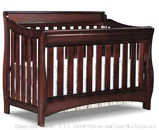 Delta Children Bentley S Series 4-in-1 Convertible Baby Crib, Black (Online $236)