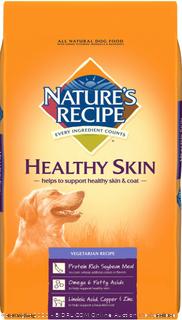 Nature's Recipe Healthy Skin Vegetarian Recipe Dry Dog Food 30-lb bag (Online $43)