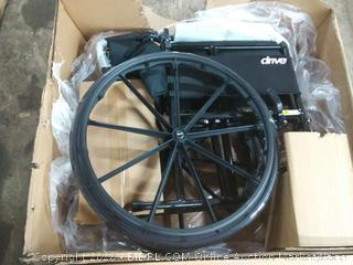 Drive Medical Silver Sport 1 Wheelchair with Full Arms and Swing Away Removable Footrest, Black(Retails $139)