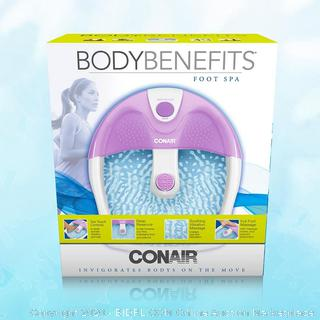 Conair Foot Spa/ Pedicure Spa with Soothing Vibration Massage (Online $70)