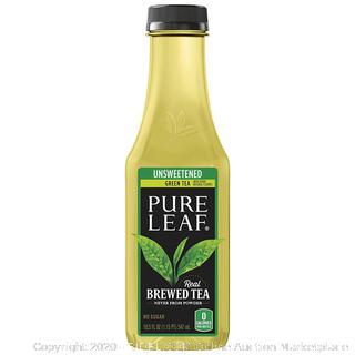 Pure Leaf Iced Tea, Unsweetened Green Tea, Real Brewed Tea, 12 pack