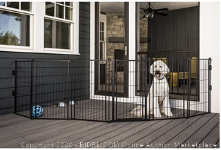 Carlson Pet Products 3-in-1 Extra Tall Weather-Resistant Outdoor 144-Inch Wide Pet Gate, Pen and Fence (Online $169)