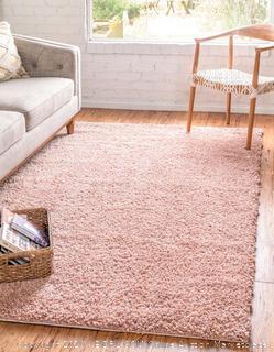 Zermatt shag collection pink rug 5 ft x 8 ft (online $129)