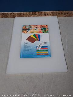Winco - CBWT-1520 - 15 in x 20 in x 1/2 in White Cutting Board (online $27)