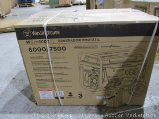 Westinghouse Portable Generator  6000/7500 sealed