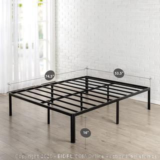 Zinus Van 16 Inch Metal Platform Bed Frame with Steel Slat Support / Mattress Foundation, Full (online $94)