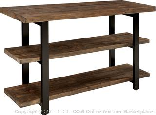 """Sonoma 48"""" L Reclaimed Wood Media/Console Table with 2 Shelves, Natural (online $289)"""