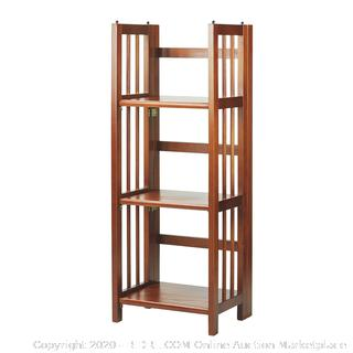 Casual home folding stacking bookcase