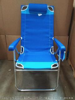 NEW RIO BEACH Hi Boy Beach Chair with Canopy Blue/Turquoise