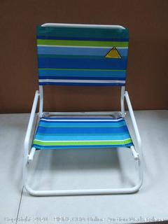 RIO Beach Wave 1-Position Beach Folding Sand Chair - Ocean (used has scratches)