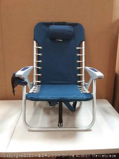 Rio Beach Lace-Up Suspension Folding Beach Chair, Blue