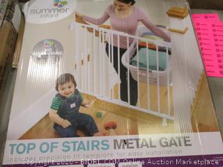 Top of Stairs Metal Gate
