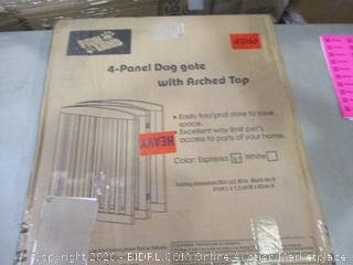 4-Panel Dog Gate w/ Arched Top