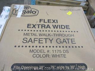 Flexi Extra Wide Metal Walk-Through Safety Gate