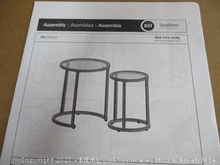 Nesting Side Tables 2Pc Set