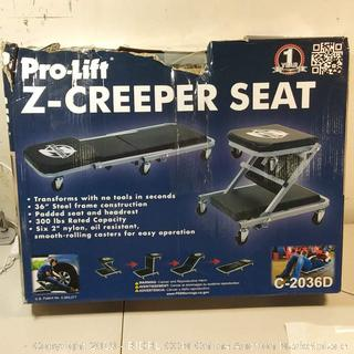 Pro-Lift C-2036D Z-Creeper 2-in-1 Creeper and Creeper Seat - VIP
