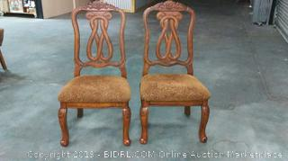 Signature Design by Ashley Dining Room Chairs Set of 2 (MSRP $750)