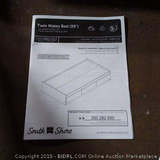 South Shores Furniture Twin Mates Bed