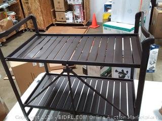 Cosco Indoor/Outdoor Serving Cart, Folding, Brown Sandy Brown