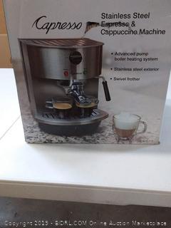 Capresso Stainless Steel Espresso Cappuccino Maker Latte Coffee