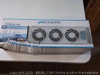BuyBeehive: Bionaire Thin Window Fan with Electronic Thermostat