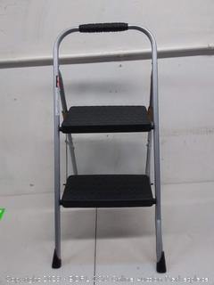 Cosco Two Step Folding Step Stool with Rubber Hand Grip