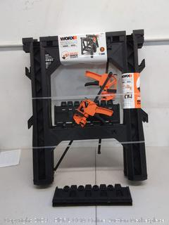 """Worx Clamping Sawhorses (27"""" x 18"""") 2x Direct Mount quick clamps"""