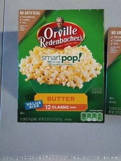 Orville Redenbacher's Smart Pop Butter 12 Classic bags- 2 units