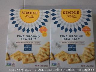 Simple Mills Fine Ground Sea Salt Almond Flour Crackers 2 units