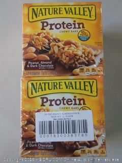 Nature Valley Protein Chewy Bars- 5 Bars- Peanut, Almond, & Dark Chocolate- 6 boxes