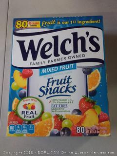 Welch's Family farmer owned- mixed fruit snacks- 80 calorie pouches
