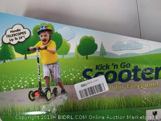 Kick 'n Go Scooter for Kids with Rear Brake