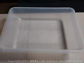 Edushape Water & Sand Play Indoor /Outdoor See-Thru Activity Tub, Translucent