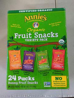 Annie's Homegrown Organic Vegan Fruit Snacks Variety Pack 24