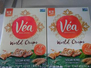 Véa World recipes World Crisps Tuscan herbs with roasted garlic 2 x 12 on the go packs