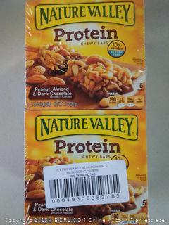 natural valley protein bars-  peanut almond 6-pack pack- 6 boxes 5 bars
