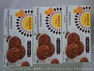 Simple Mills Crunchy Cookies, Double Chocolate, 5.5 Oz - Galleon 3 boxes