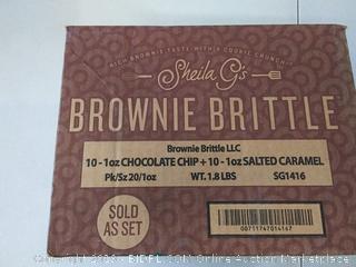Brownie Brittle LLC 10-1 OZ Chocoalte chip + 10-1 OZ Salted Caramel