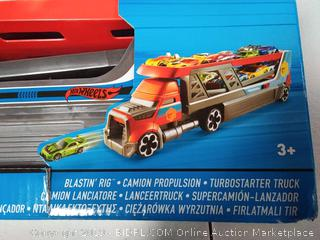 Hot Wheels Blastin' Rig Transporter, Includes 3 Cars, Ages 3+