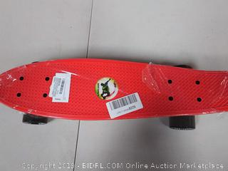 GASACIODS 22 Inch Mini Cruiser Skateboard for Kids, Youths & Beginners, Weight Limit 220 Ibs (RED)