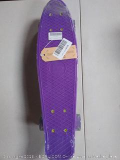 "Merkapa 22"" Complete Skateboard with Colorful LED Light Up Wheels for Beginners (Online $35.99)"